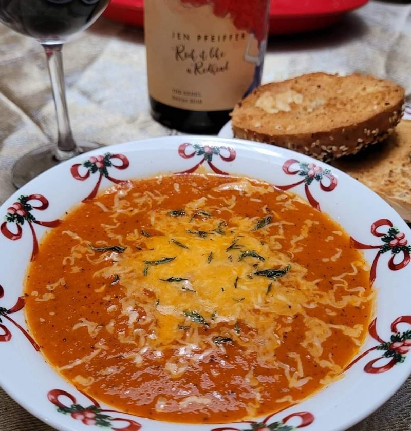Roasted Red Pepper & Smoked Gouda Bisque